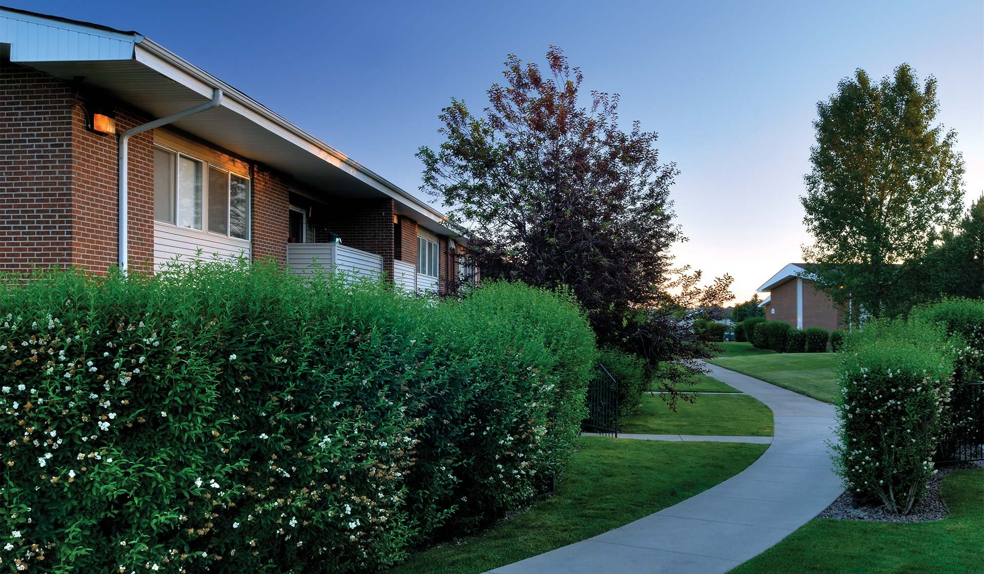 Meadow Creek Apartments - Exterior Walking Path - Boulder, Co